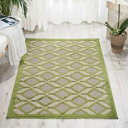 Nourison Aloha  Green Rectangle Area Rug, 2-Feet 8-Inches by