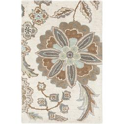 "Art of Knot ""Alyxia Area Rug, 2' x 3', Denim/Beige/Eggplant/"
