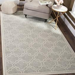 Safavieh Amherst Collection AMT412B Light Grey and Ivory Ind