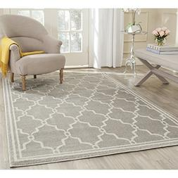Safavieh Amherst Collection AMT414B Light Grey and Ivory Ind