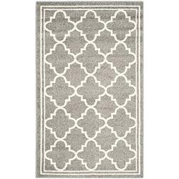 Safavieh Amherst Collection AMT422R Dark Grey and Beige Indo