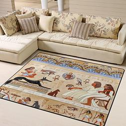 ALAZA Ancient Hieroglyph Egyptian Culture Area Rug Rugs for