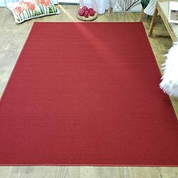 Area Rug 5x7 Solid Red Kitchen Rugs and mats | Rubber Backed