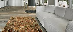 Maxy Home Anti-Bacterial Rubber Back AREA RUGS Non-Skid/Slip