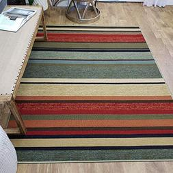 Area Rug 5x7 Colored Stripes Kitchen Rugs and mats | Rubber