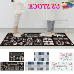 Anti-skid Entry Doormat Area Rug PVC Floor Mat Kitchen Bathr
