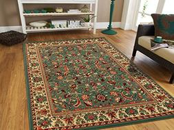 Large Area Rug Oriental Carpet 8x11 Living Room Rugs 8x10 Gr