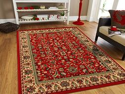 AS Quality Rugs Red Persian Rugs for Living Room 5x8 Red Rug
