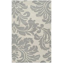 "Art of Knot ""Vlore"" Area Rug, 8' x 10' Oval, Medium Gray/Cre"