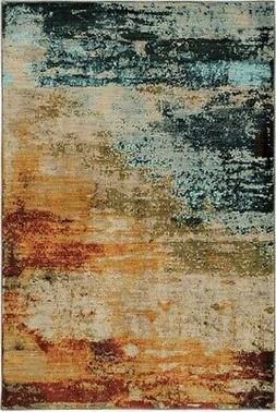 NEW Area Rug 6365A Sedona ABSTRACT Grand Canyon Oriental Wea