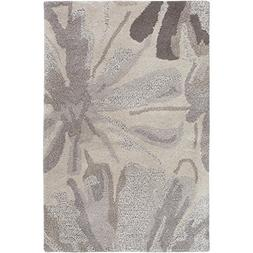 "Art of Knot ""Amaranthus Area Rug, 2' x 3', Taupe/Light Gray/"