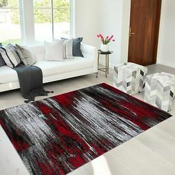 Area Rug Abstract Contemporary Modern Design Mixed Brush Hom