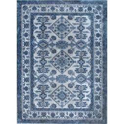 Home Dynamix Area Rug Bazaar Elegance Gray/Blue Indoor Synth