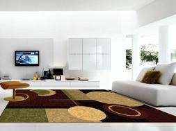 Area Rug Circle Pattern Contemporary Style