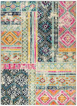 area rug Csb#503 Pink, blue, gold pattern soft pile sizes 2x