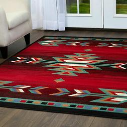 Area Rug for Modern Home Decor 5x7 Southwestern Style Aztec