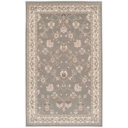 Area Rugs for Living Room Floral Oriental 4x6 Black White Cl