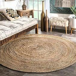 Area Rugs NuLOOM Hand Woven Casual Jute Braided Rug, Natural