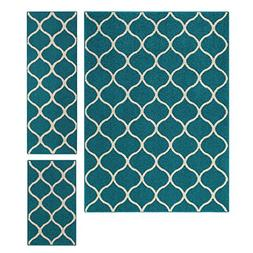 Maples Rugs Area Rugs Sets,  3 Piece Set Non Slip Padded Lar
