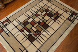 Arts & Crafts Mission Style Indoor Outdoor Area Rug **FREE S