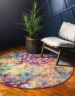 Unique Loom Casablanca Collection Modern Abstract Multi Home