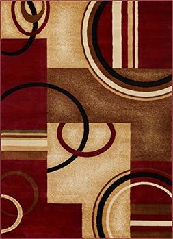 Well Woven Barclay Arcs & Shapes Red Modern Geometric Area R