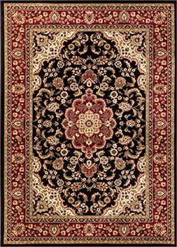 Well Woven Barclay Medallion Kashan Black Traditional Area R