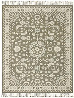Stone & Beam Barnstead Floral Wool Area Rug, 4' x 6', Charco