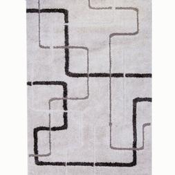 Home Dynamix Bazaar Modern Lines Ivory Indoor Area Rug 5 Ft.