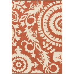 """Art of Knot Big Pine Rust Transitional 5'3"""" x 7'7"""" Area Rug"""