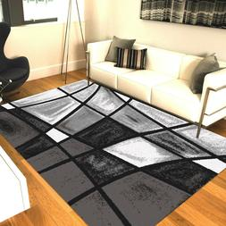 Black and Gray   Area Rugs Carpet By MSRUGS Made From Turkey