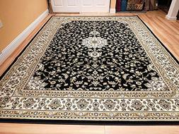 Traditional Isfahan Persian Style 5x8 Area Rug Black Cream 5