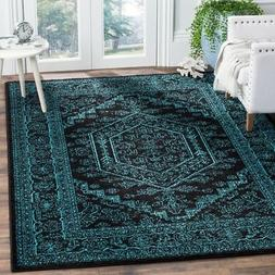 Black / Teal Safavieh Power-Loomed Area Rugs - ADR109K