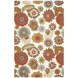 Safavieh Blossom Collection BLM731A Handmade Ivory and Multi