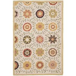 Safavieh Blossom Collection BLM951A Handmade Ivory and Multi