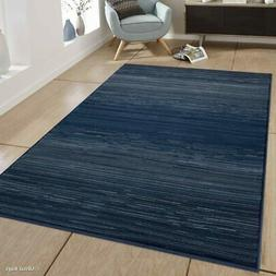 Allstar Rugs Blue and Grey Linear Abstract Rectangular Area