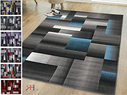 Handcraft Rugs Blue/Silver/Gray Abstract Geometric Modern Sq