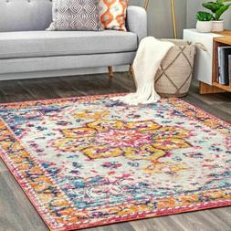 nuLOOM Bohemian Laila Blooming Medallion Area Rug in Multi