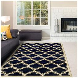 Superior Bohemian Trellis Collection Area Rug, 10mm Pile Hei