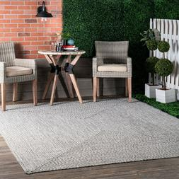 braided contemporary modern indoor outdoor area rug