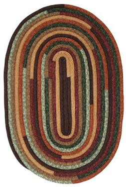 Colonial Mills Braided Oval Area Rug 5'x8' Forest Quilters C