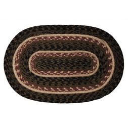 """IHF HOME DECOR 20"""" X 30"""" Braided Oval Rug Primitive Country"""