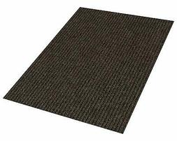 Brown Indoor/Outdoor Area Rug Carpet with a Rubber Non Slip