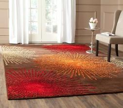 Brown / Multi Safavieh Soho Wool Area Rug SOH712B