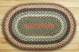 Earth Rugs C-413 Buttermilk / Cranberry Oval Braided Rug 5 F