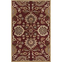 Art of Knot Cambrai Area Rug, 2' x 4' Hearth, Burgundy/Taupe