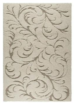 canyon collection elegant area rug with ivory