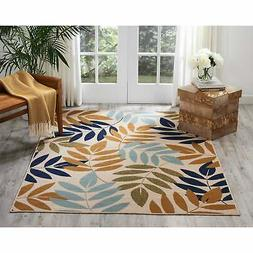 Nourison Caribbean Palm Leaves Indoor / Outdoor Area Rug