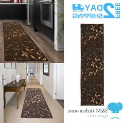 Home Kitchen Solid Design Hallway Runners Rugs Carpet Floor