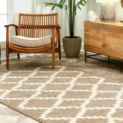 nuLOOM Casuals Geometric Faustina Area Rug in Beige
